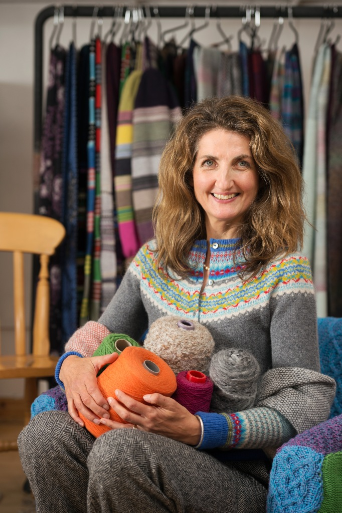 Women's Enterprise Scotland (WES). Rosemary Eribe of Eribe Knitwear Limited. Pictured at their office in Galashiels. Pic free for first use relating to WES. © Malcolm Cochrane Photography  +44 (0)7971 835 065  mail@malcolmcochrane.co.uk  No syndication  No reproduction without permission
